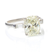 Load image into Gallery viewer, Custom-Made Cushion Cut Diamond Ring in Platinum