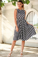 Women's Polka-Dot Black Dress