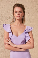Women's Ruffle Lilac Dress