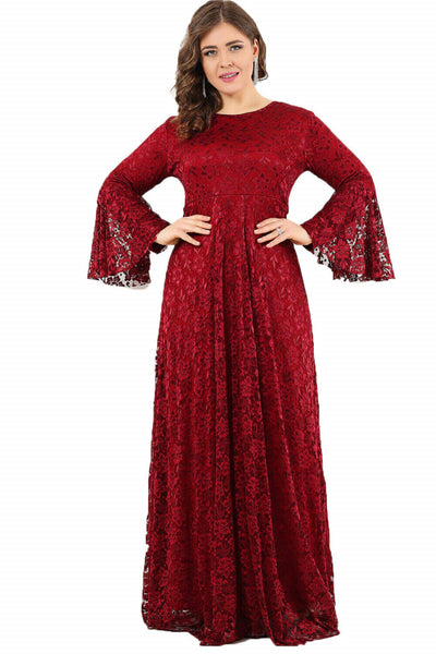 Women's Oversize Long Ruffle Sleeves Dress