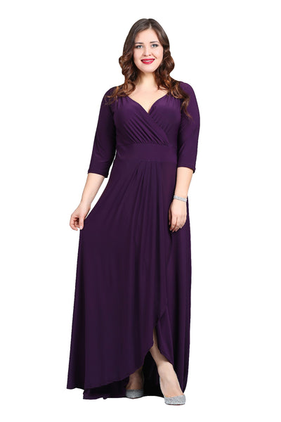 Women's Oversize Slit Front Evening Dress