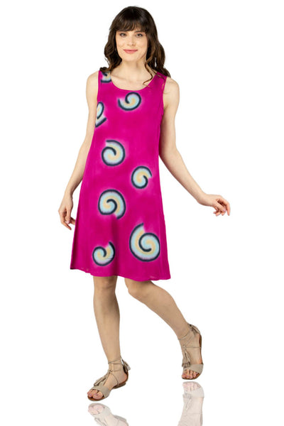 Women's Printed Pink Short Dress