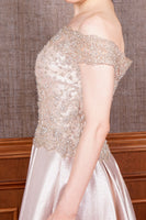 Women's Special Design Glitter Gold Evening Dress