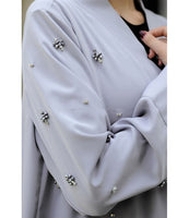 Women's Crystal Detail Grey Cardigan