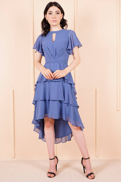Women's Indigo Chiffon Dress