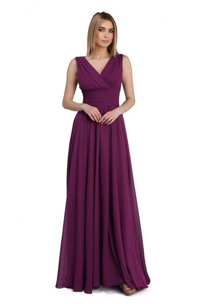 Women's Oversize Purple Long Evening Dress