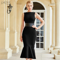 Adyce 2020 New Summer Black Mermaid Bodycon Bandage Dress Women Sexy Tank Sleeveless Celebrity Runway Club Party Dress Vestidos