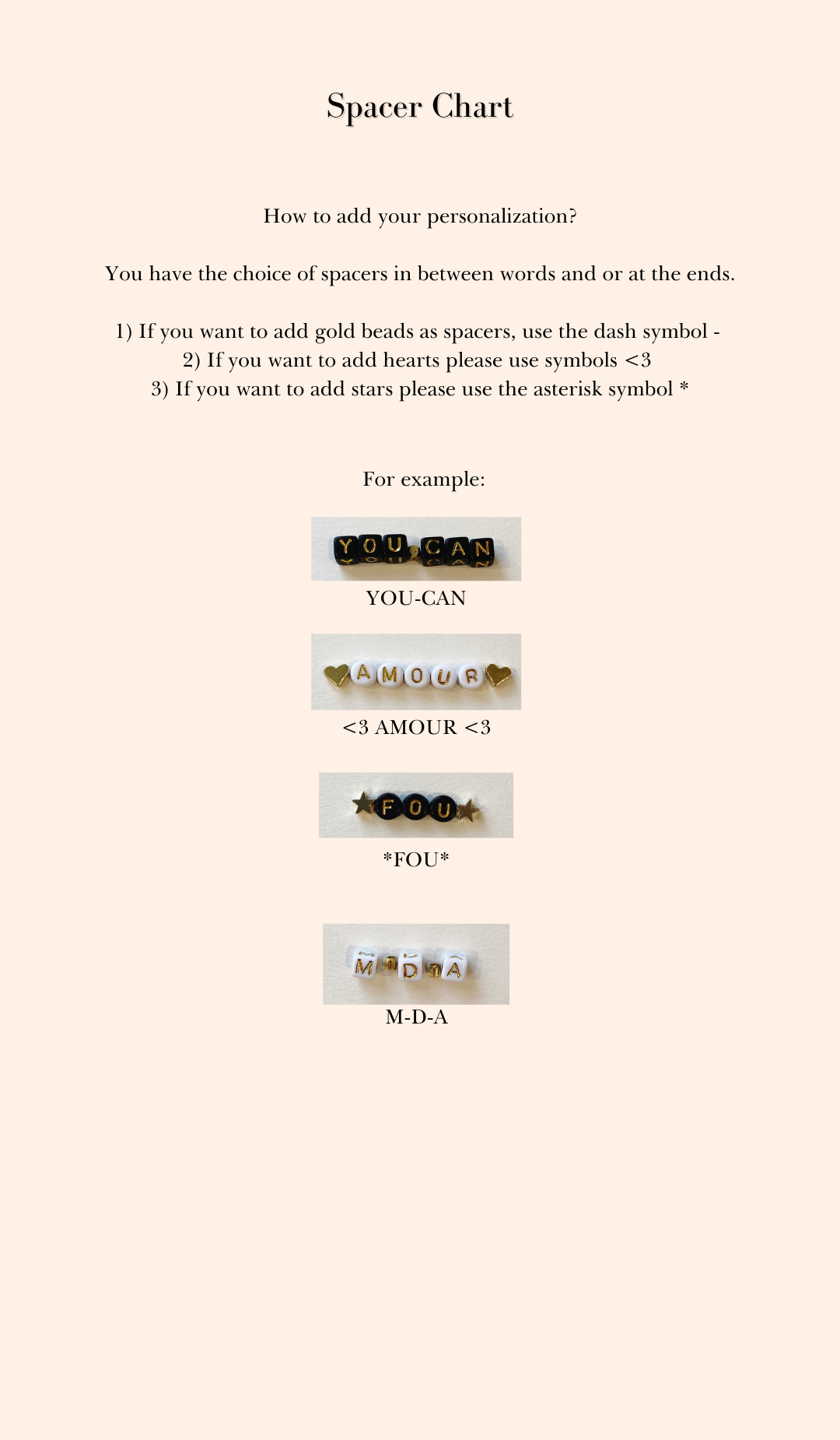 LIMITED EDITION Personalized Beaded Bracelets