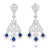 Sterling Diamond & Kyanite Studded Danglers