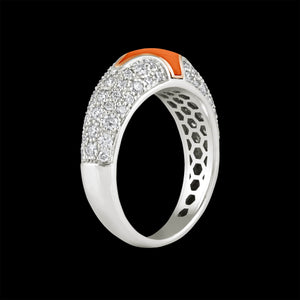 Sterling Diamond Ring