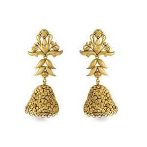 Ethnic Gold Earrings in Yellow Gold.