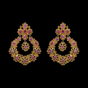 Traditional Gold & Ruby Chandbali