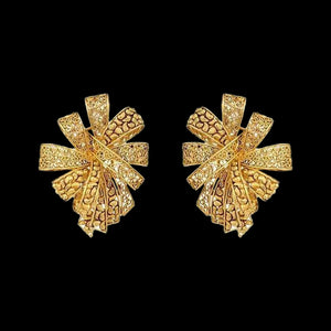 Exquisite Earrings In Yellow Gold.