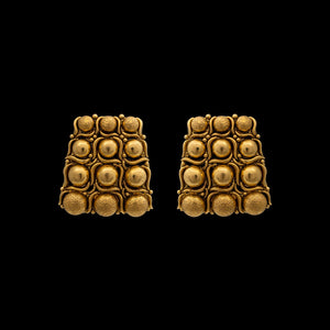 Gold Ball Studded studs In Yellow Gold