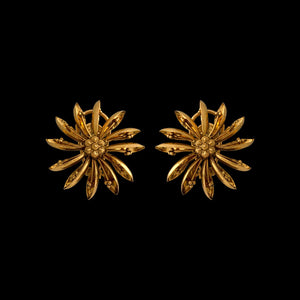 Wheel Shape Studs In Yellow Gold