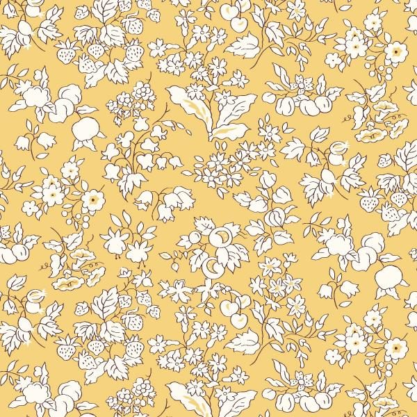 Orchard Garden Fruit Silhouette - Liberty of London Fabric