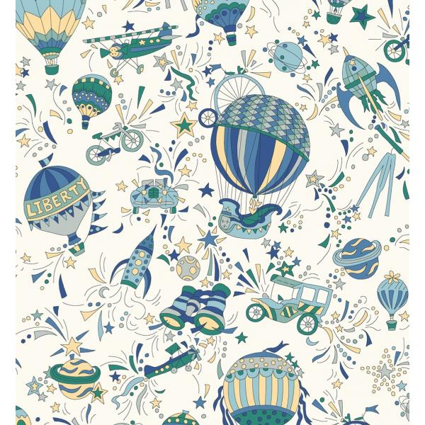 Adventures in the Sky Sky High - Liberty of London Fabric