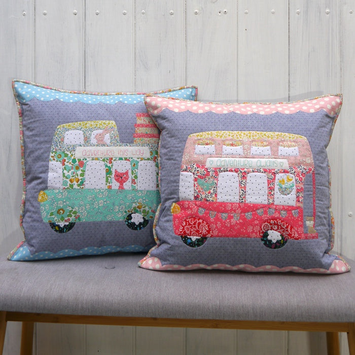 Claire Turpin Designs - Bus About Cushions