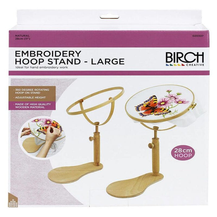 "Birch Embroidery hoop stand - Large 28cm (11"")"
