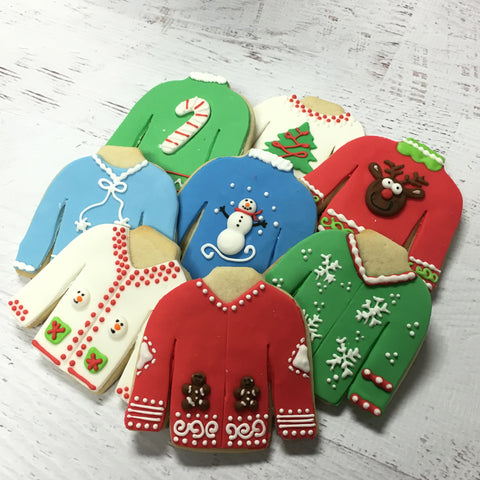 Ugly Sweater Cookie Favor