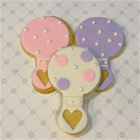 Baby Rattle Cookie Favor