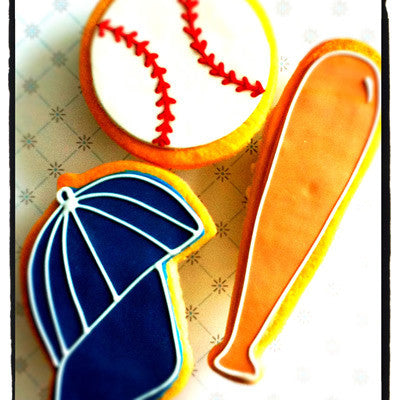 Baseball Bat Cookie Favor