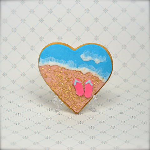 Beach Heart Cookie Favor