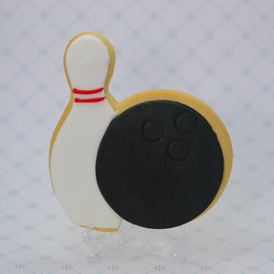 Bowling Ball and Pin Cookie Favor