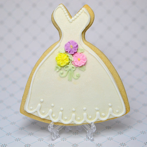 Bridal Gown Cookie Favor