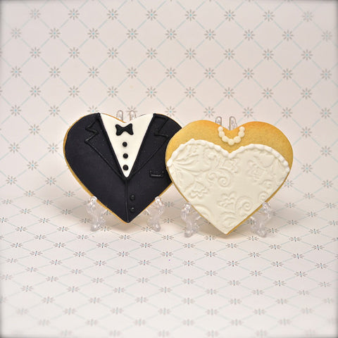 Bride & Groom Hearts Cookie Favor