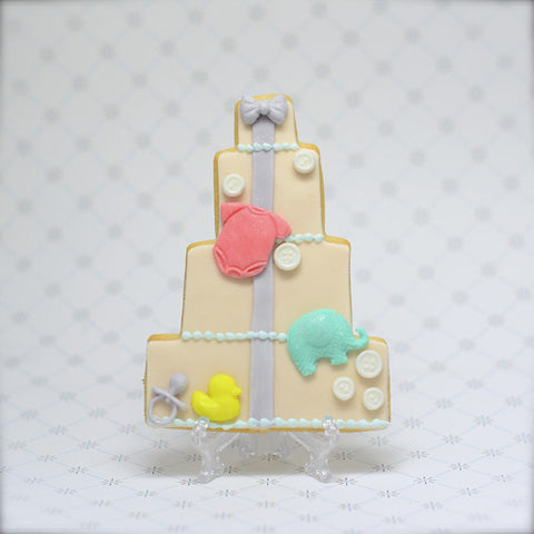Baby Shower Cake (4 tier) Cookie Favor