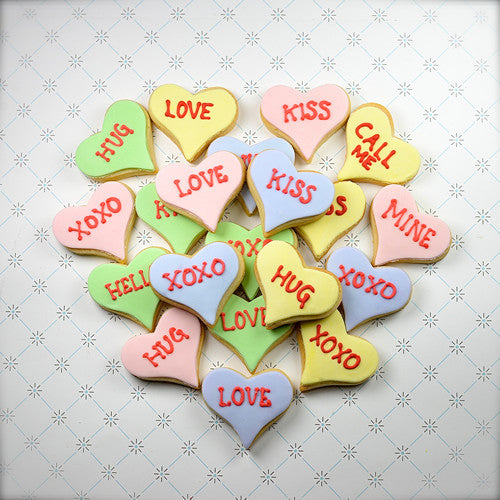 BAG of Small Candy Heart Cookies