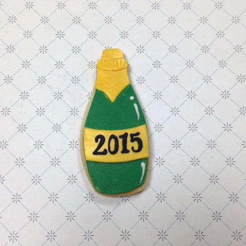 Champagne Bottle Cookie Favor