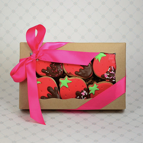BOXED Valentine's Strawberry Cookie Favor