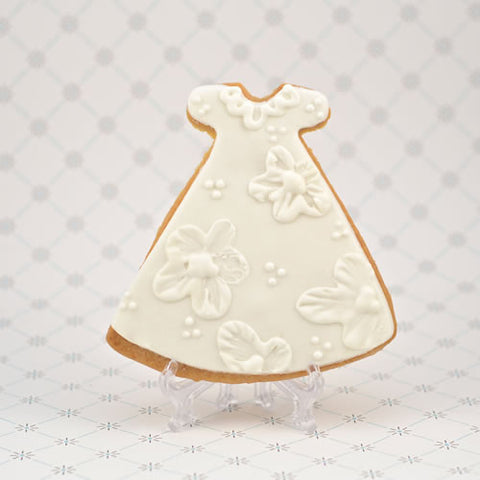 Communion/Christening Gown (Floral) Cookie Favor