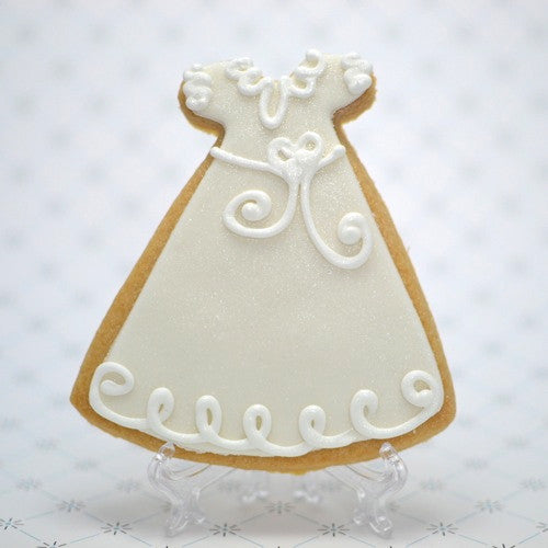 Communion/Christening Gown (Bow) Cookie Favor