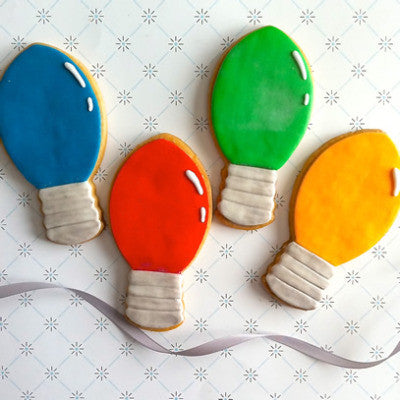 Christmas Light Bulb Cookie Favor