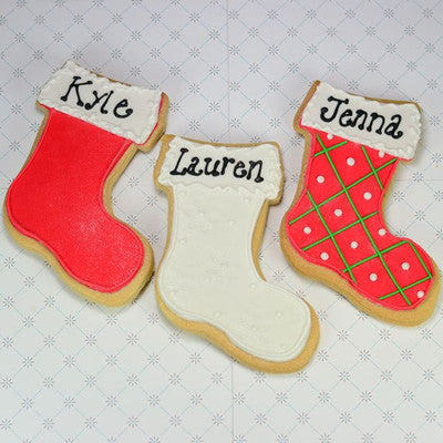 Christmas Stocking Cookie Favor