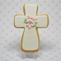 Floral Cross Cookie Favor