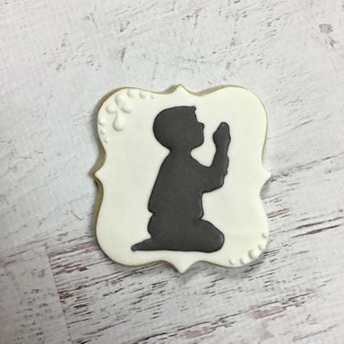 Communion Boy Silhouette Cookie Favor