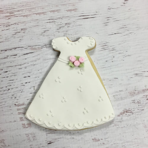 Communion/Christening Gown (Bouquet) Cookie Favor