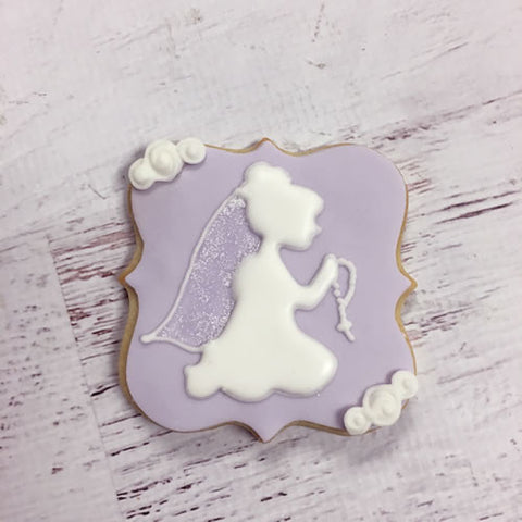 Communion Girl Silhouette Cookie Favor