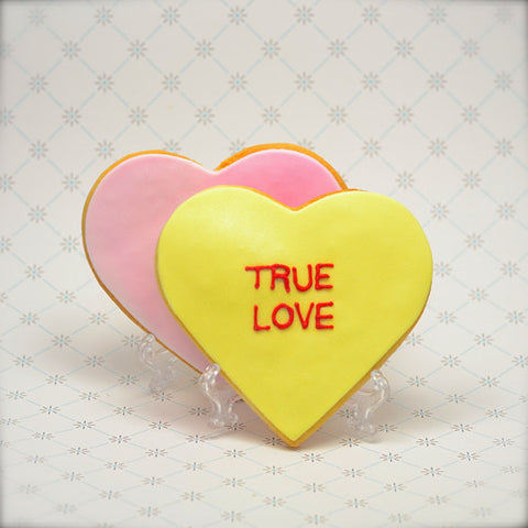 Conversation Heart Cookie Favor