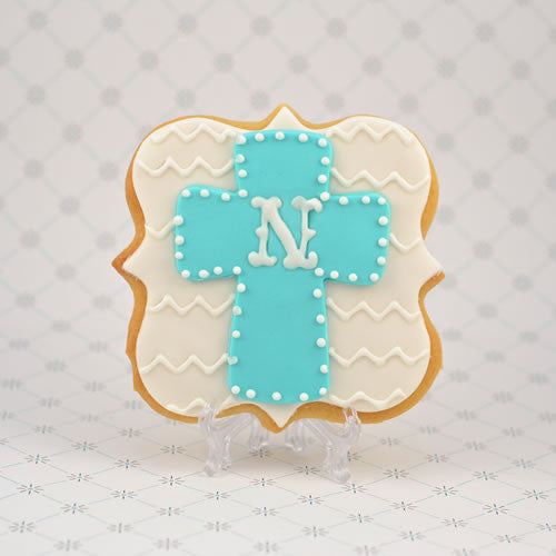 Cross on Plaque Cookie Favor