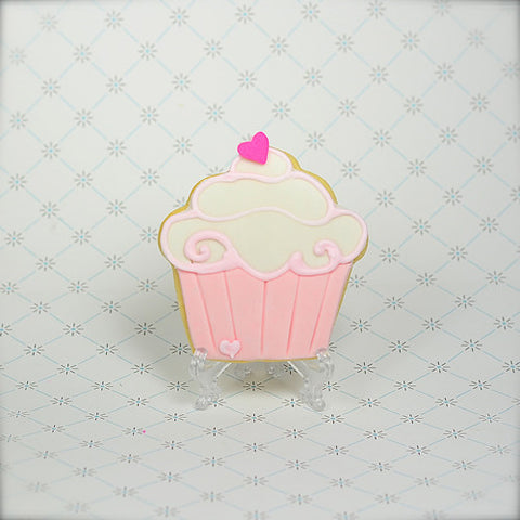 "Cupcake ""Valentine's "" Cookie Favor"