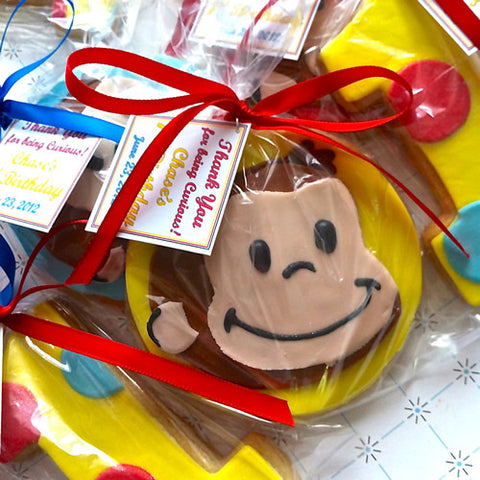Curious George Cookie Favor