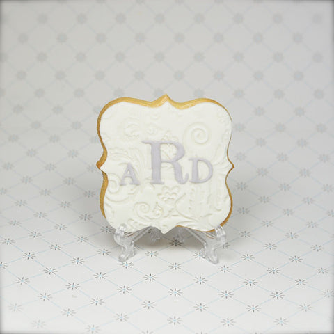 Monogram (Fancy Plaque) Cookie Favor