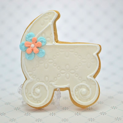 Baby Stroller Cookie Favor