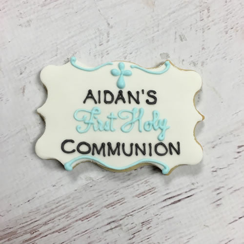 First Holy Communion Plaque Cookie Favor