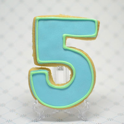 Number Five Cookie Favor